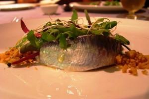Marinated Sardines with Wasabi Root