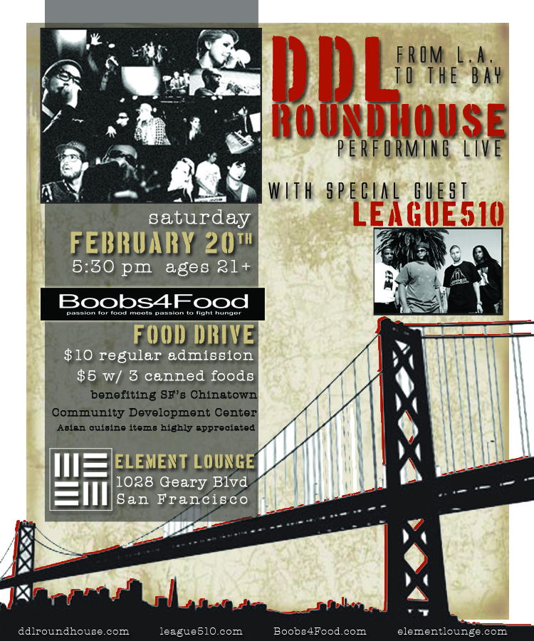 """From LA to the Bay: DDL Roundhouse x Boobs4Food"""