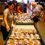 Sorting bread for donations