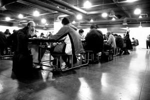 Dinner hour at The Midnight Mission